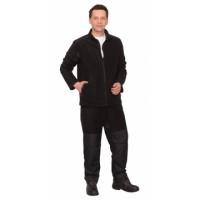 FITSYSTEM костюм флисовый, куртка, брюки черный с накладками