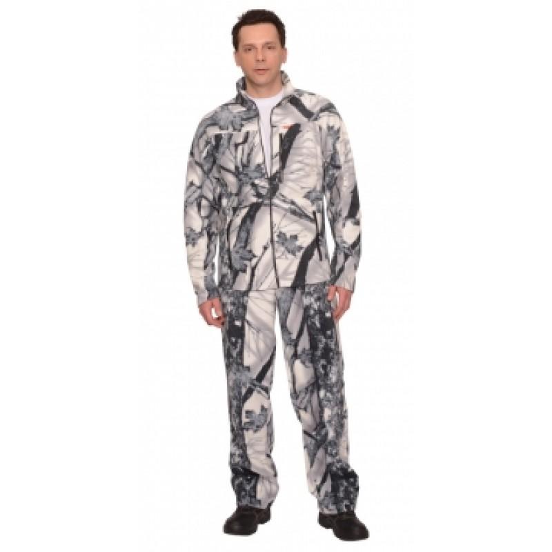 """СИРИУС-ИРБИС костюм флисовый, куртка, брюки """"Зимний лес"""""""