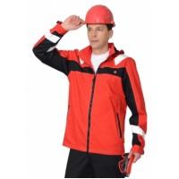 СИДНЕЙ куртка красная с черным и СОП тк.Rodos (245 гр/кв.м)