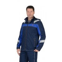 СИДНЕЙ куртка синяя с васильковым и СОП тк.Rodos (245 гр/кв.м)