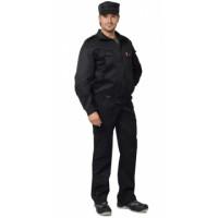 СИРИУС-ОХРАННИК костюм летний, куртка, брюки чёрный