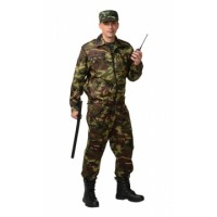 СИРИУС-ФРЕГАТ костюм для охранника, куртка, брюки КМФ зелёный