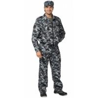 СИРИУС-ФРЕГАТ костюм для охранника, куртка, брюки КМФ серый