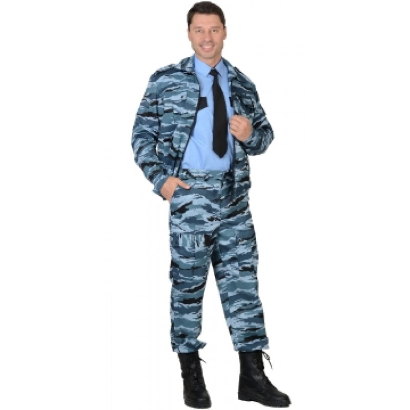 ФРЕГАТ костюм для охранника, куртка, брюки КМФ серый вихрь