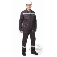 СИРИУС-ТРОЯ костюм, куртка, брюки т.коричневый с СОП