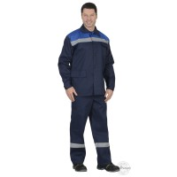 СИРИУС-ПРОИЗВОДСТВЕННИК костюм, куртка, брюки синий с васильковым с СОП