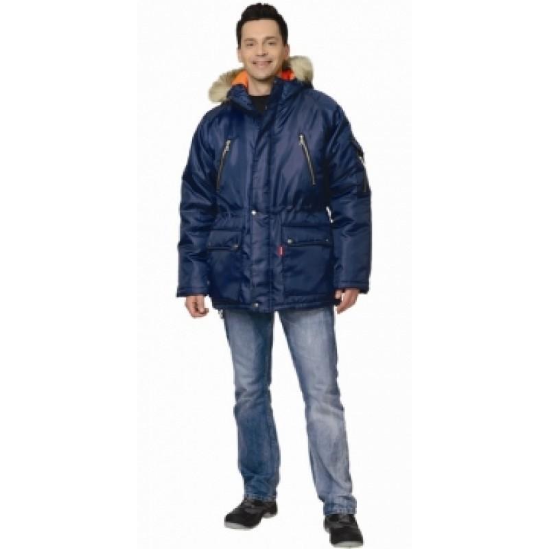 СИРИУС-АЛЯСКА куртка мужсая дл., тёмно-синяя