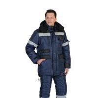 БЕРКУТ куртка дл., синяя с черным тк.Оксфорд