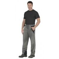 АКТИВ брюки флисовые серые, отделка чёрная