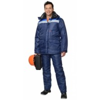 СТРОЙГРАД костюм зимний, куртка дл., брюки синий с васильковым и СОП