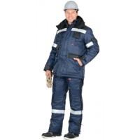 БЕРКУТ костюм, куртка дл., п/комб. синий с чёрным и СОП 50 мм