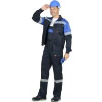 СИРИУС-ЛЕГИОНЕР костюм, куртка, полукомбинезон синий с васильковым и СОП 50мм