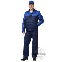 СИРИУС-АВТОМАСТЕР костюм, куртка, п/комб. синий с васильковым тк.CROWN-230