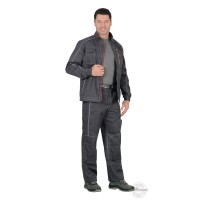 СИРИУС-АЛЕКС костюм летний мужской, куртка, брюки, темно-серый