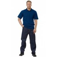 Рубашка-поло короткие рукава тёмно-синяя, пл. 205 г/кв.м.