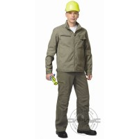 СИРИУС-ДАЛЛАС костюм летний, куртка короткая, брюки оливковый