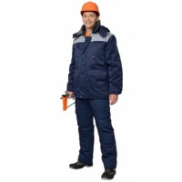 ПРОФЕССИОНАЛ костюм зимний, куртка дл., брюки тёмно-синий с серым