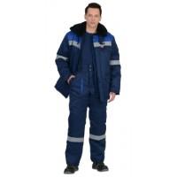 СЕВЕР-1 костюм зимний, куртка дл., брюки синий с васильковым и СОП