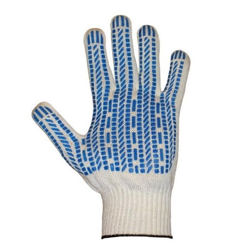 ПРОТЕКТОР перчатки хб с ПВХ Стандарт 4-х нитка