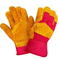 РУССКИЙ ЛЕВ перчатки спилковые комбинированные