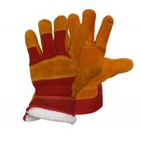 РУССКИЕ ЛЬВЫ перчатки Утепленные спилковые