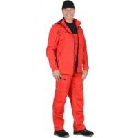 СИРИУС-МЕЛЬБУРН костюм, куртка,п/к красный тк.Rodos (245 гр/кв.м)