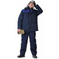 ПРОФЕССИОНАЛ куртка дл., зимняя тёмно-синяя с васильковым