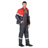 СИРИУС-НАВИГАТОР костюм летний, куртка, п/комб. серый с красным и СОП