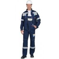 СИРИУС-ПЕРСЕЙ костюм, куртка кор., п/к, т.синий с молочным и голубым и СОП 50мм