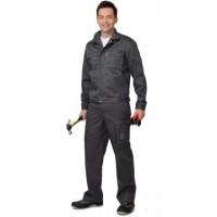 СИРИУС-ПЛУТОН костюм, куртка, брюки тёмно-серый со светло-серой отстрочкой